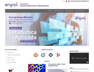 fcnm.espol.edu.ec screenshot