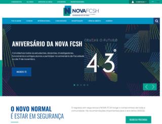 fcsh.unl.pt screenshot