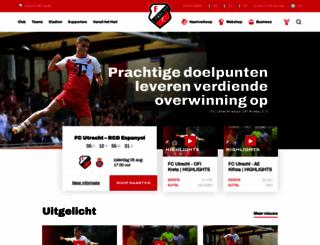 fcutrecht.nl screenshot