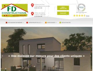 fdconstructions.fr screenshot