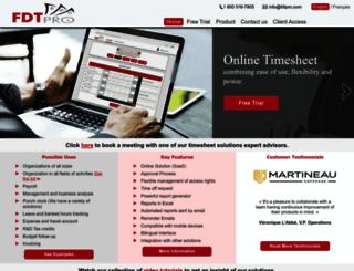 fdtpro-timesheets.com screenshot
