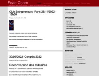 feae.cnam.fr screenshot