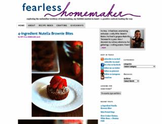 fearlesshomemaker.com screenshot
