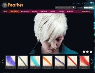 featherhairstore.com screenshot