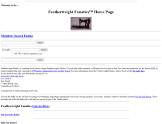 featherweightfanatics.com screenshot