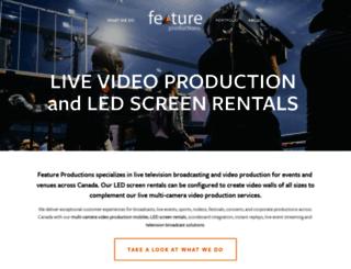 featureproductions.ca screenshot