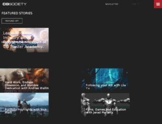 features.cgsociety.org screenshot