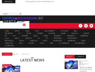 featuresandspecifications.com screenshot