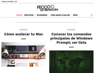feccoo-extremadura.org screenshot