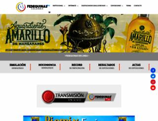 fedequinas.org screenshot
