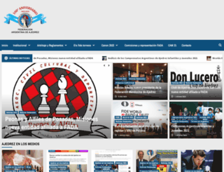 federacionargentinadeajedrez.org screenshot