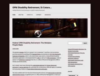 federaldisabilityretirement.wordpress.com screenshot
