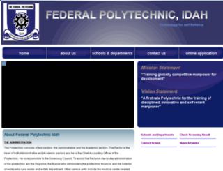 federalpolyidah.edu.ng screenshot