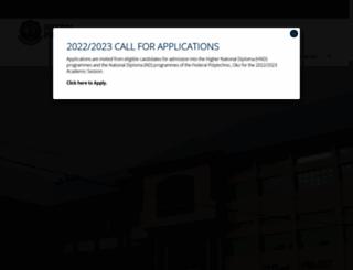 federalpolyoko.edu.ng screenshot