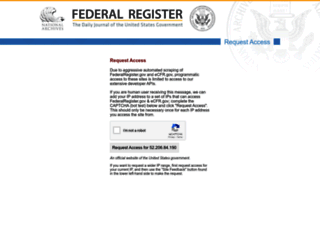 federalregister.gov screenshot