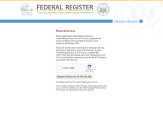 federalregister.gov screenshot