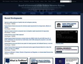 federalreserve.gov screenshot