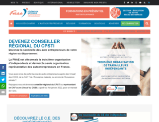 federation-auto-entrepreneur.fr screenshot