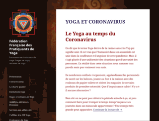 federation-pratiquants-yoga.org screenshot