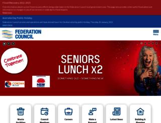 federationcouncil.nsw.gov.au screenshot