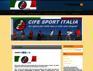 federsportitalia.it screenshot