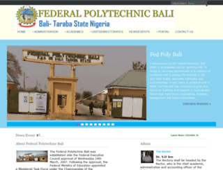 fedpobali.edu.ng screenshot