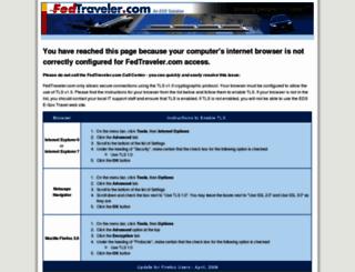 fedtraveler.com screenshot