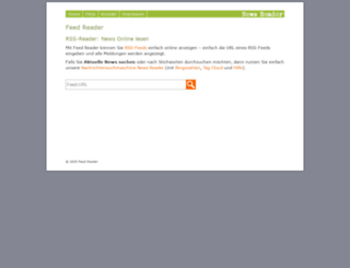 feed-reader.net screenshot