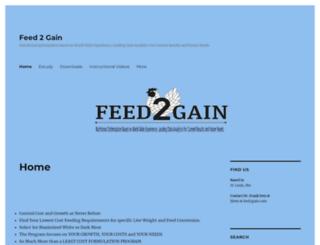 feed2gain.com screenshot