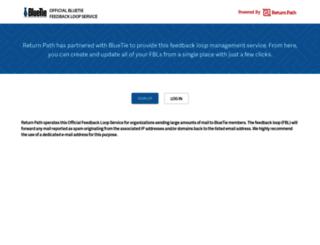 feedback.bluetie.com screenshot