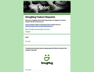 feedback.smugmug.com screenshot
