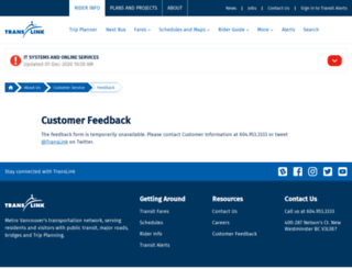 feedback.translink.ca screenshot