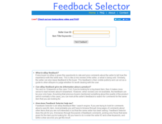 feedbackselector.com screenshot