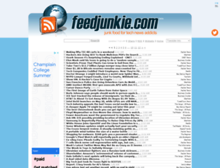 feedjunkie.com screenshot