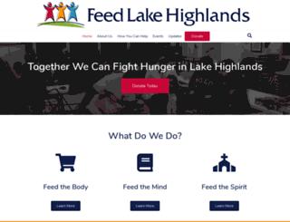 feedlakehighlands.nationbuilder.com screenshot