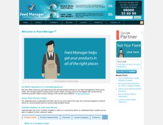 feedmanager.co.uk screenshot