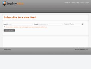feedmyinbox.com screenshot