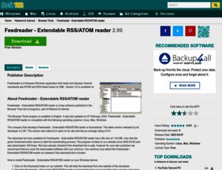 feedreader-extendable-rss-or-atom-reader.soft112.com screenshot