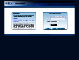 feekart.srmuniv.ac.in screenshot
