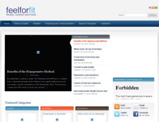 feelforfit.com screenshot
