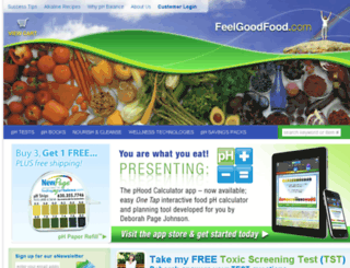 feelgoodfood.com screenshot