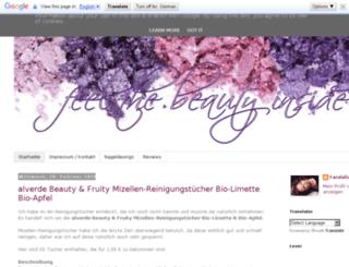 feelthebeautyinside.blogspot.de screenshot