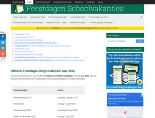 feestdagen-belgie.be screenshot