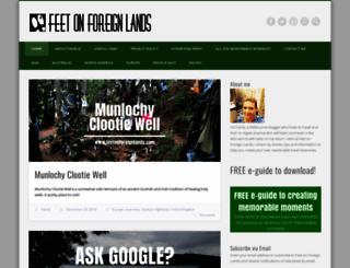 feetonforeignlands.com screenshot
