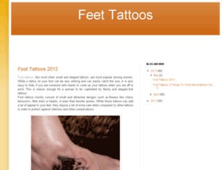 feettattoos.blogspot.com screenshot