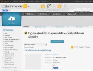 fehervarlive.hu screenshot