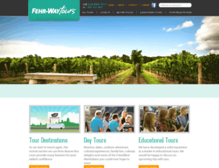 fehrwaytours.com screenshot
