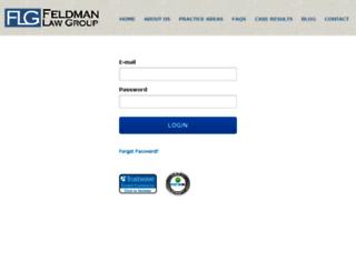 feldmanlawgroup.mycase.com screenshot