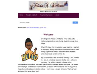feliciawilliams.com screenshot