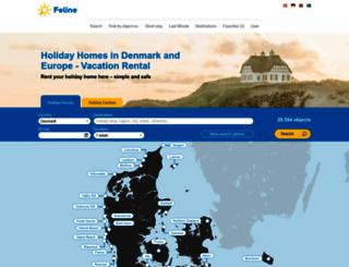 feline-holidays.co.uk screenshot